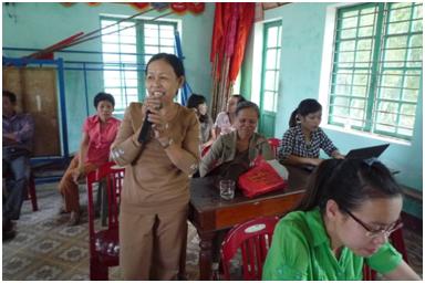 Học viên tham gia phát biểu ý kiến trong buổi tập huấn
